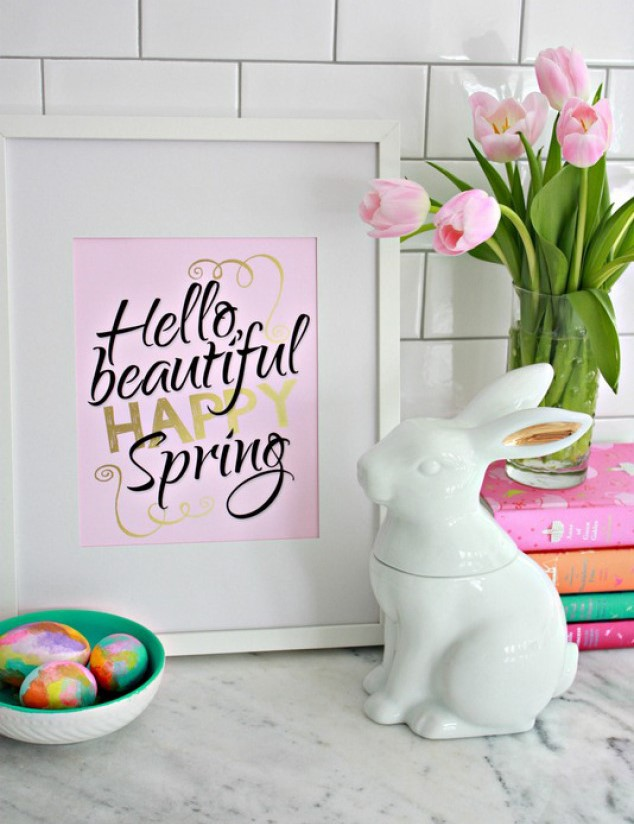 Hello-Beautiful-Happy-Spring-Printable-in-Pink-Black-and-Gold